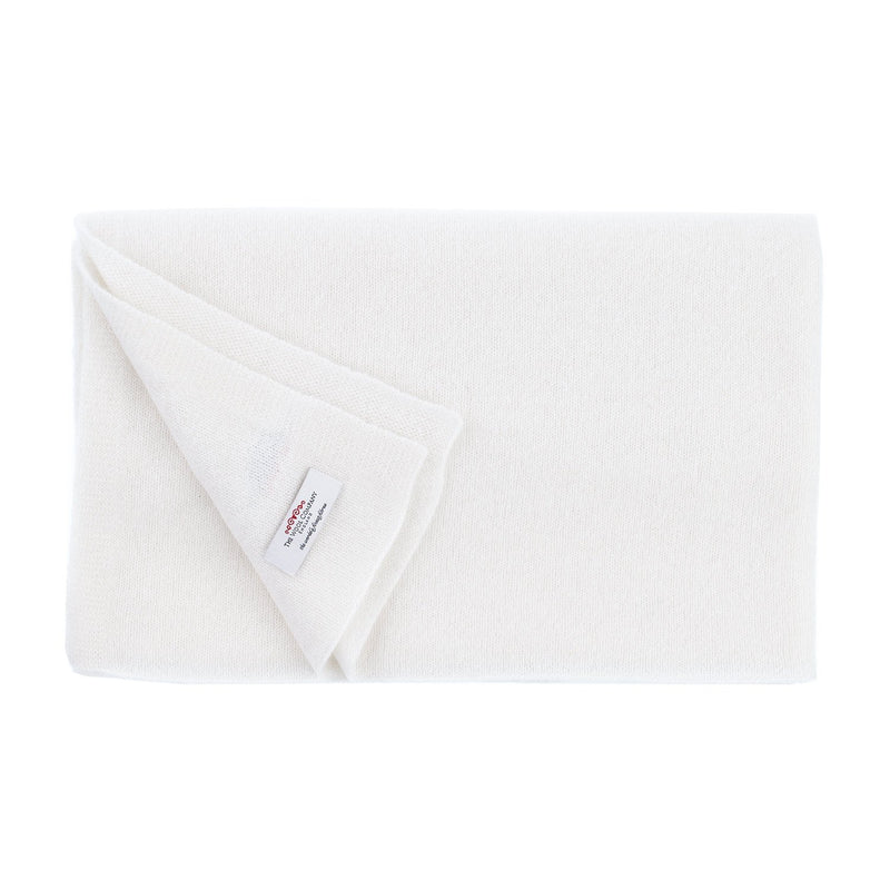 Luxury Featherweight Knitted Pashminas Chantilly Cream CLOTHING The Wool Company