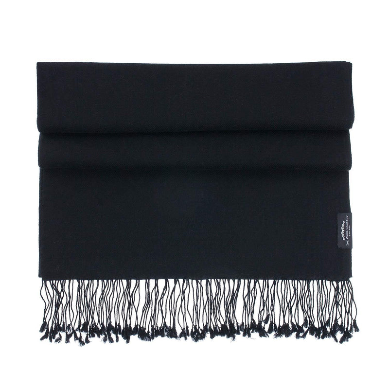 Luxury Pashmina Shawl Black CLOTHING The Wool Company