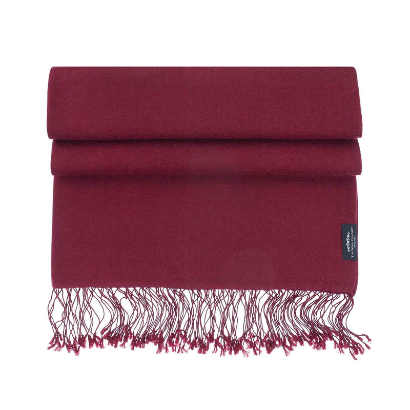 Luxury Pashmina Shawl Burgundy CLOTHING The Wool Company