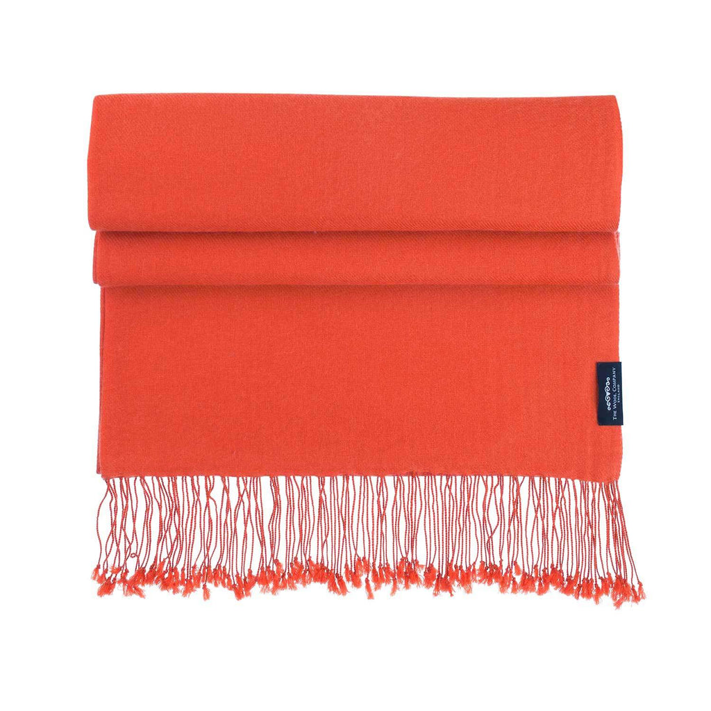 Luxury Pashmina Shawl Burnt Orange -  - CLOTHING  from The Wool Company