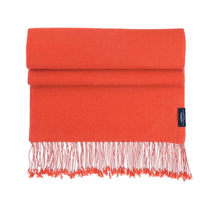 Buy Luxury Pashmina Shawl Burnt Orange From The Wool Company Online