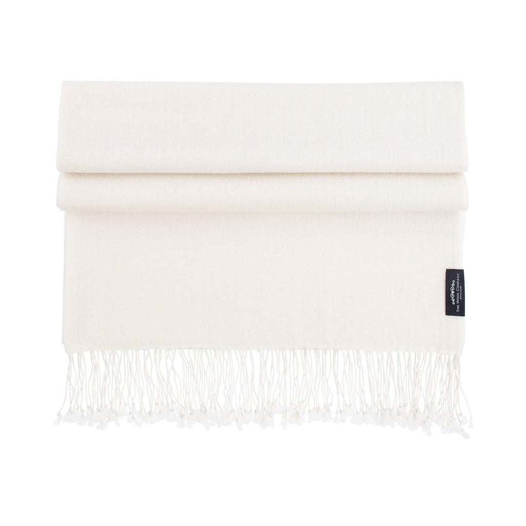Buy Luxury Pashmina Shawl Cream From The Wool Company Online