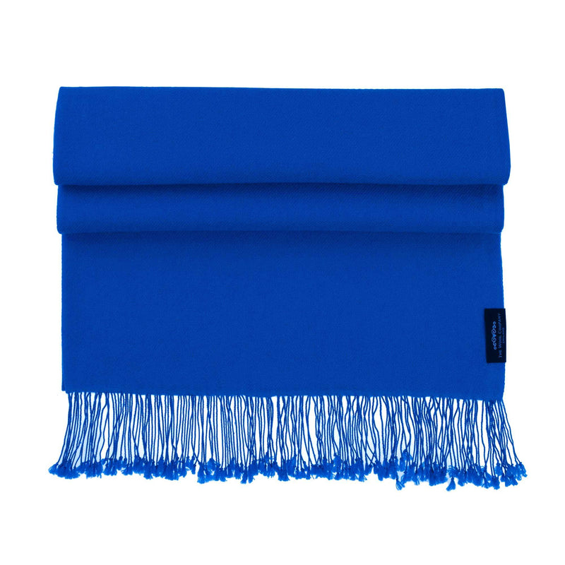 Luxury Pashmina Shawl Lapis CLOTHING The Wool Company