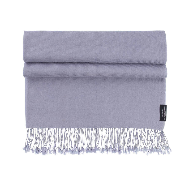 Luxury Pashmina Shawl Light Slate -  - CLOTHING  from The Wool Company