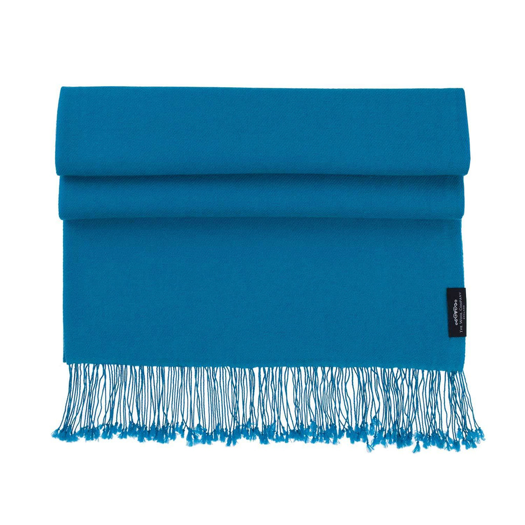 Luxury Pashmina Shawl Peacock -  - CLOTHING  from The Wool Company