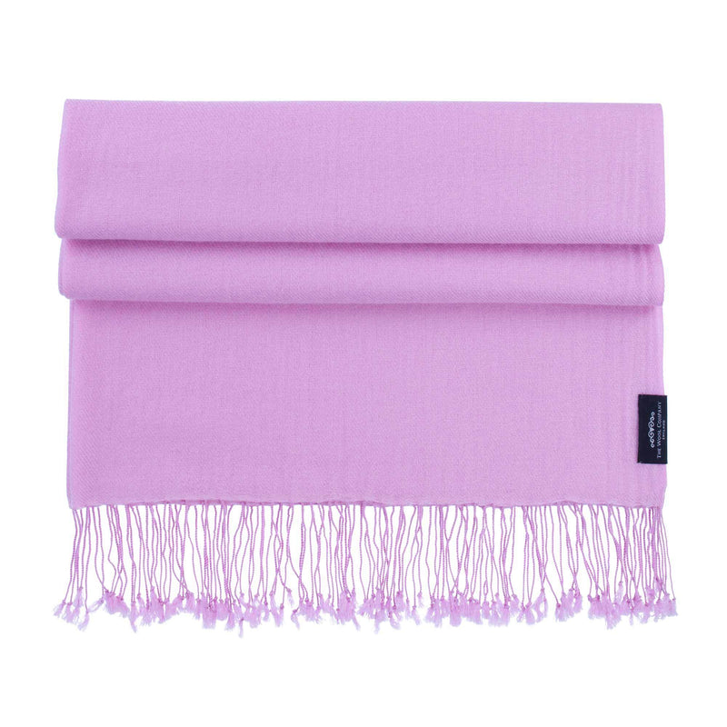 Luxury Pashmina Shawl Pink Heather -  - CLOTHING  from The Wool Company