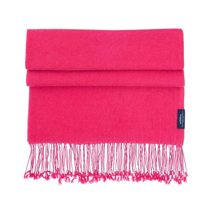 Luxury Pashmina Shawl Raspberry CLOTHING The Wool Company