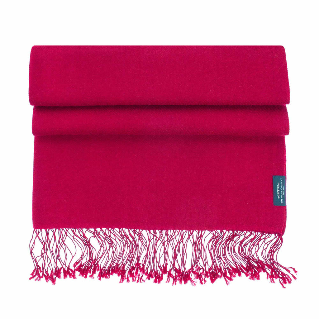Luxury Pashmina Shawl Real Red CLOTHING The Wool Company
