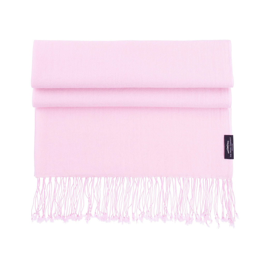 Luxury Pashmina Shawl Soft Pink -  - CLOTHING  from The Wool Company