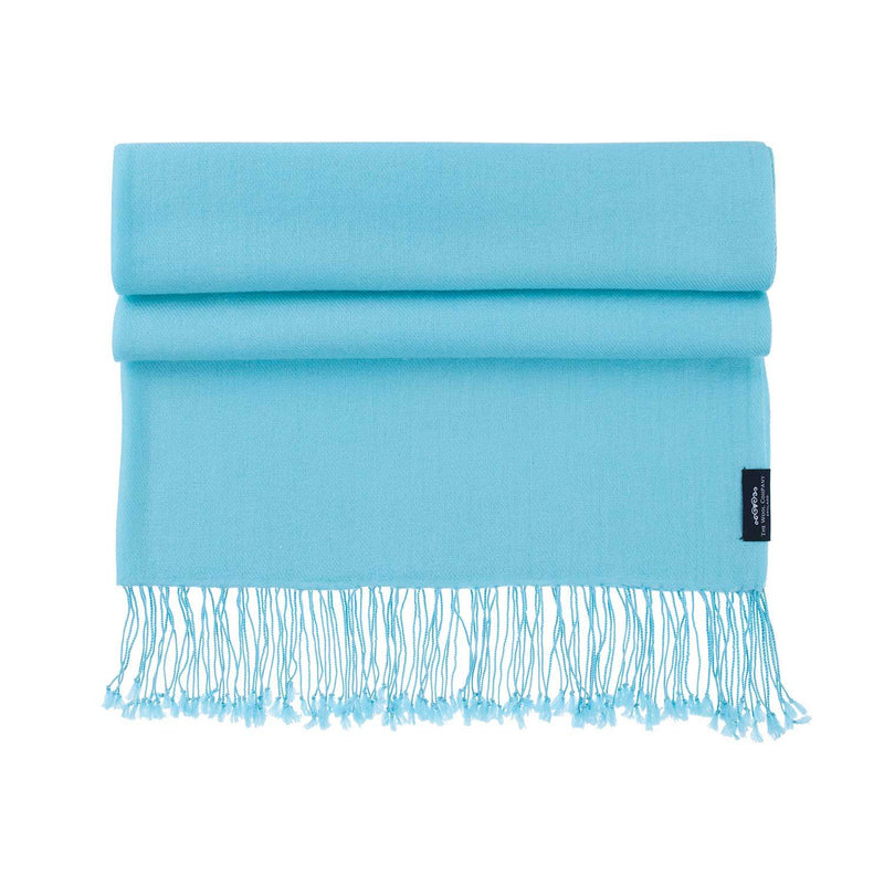 Luxury Pashmina Shawl Turquoise CLOTHING The Wool Company