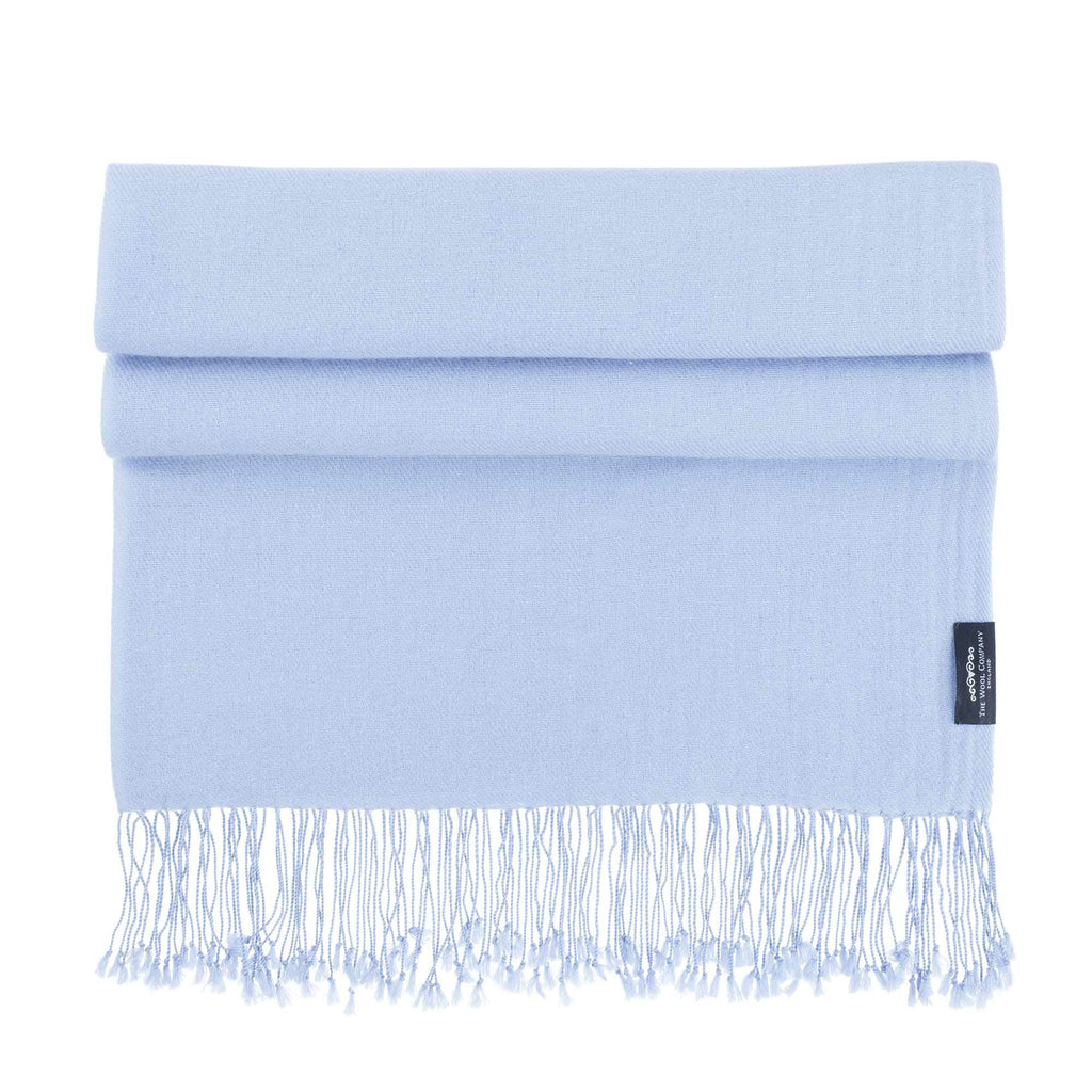 Luxury Pashmina Shawl Winter Sky -  - CLOTHING  from The Wool Company