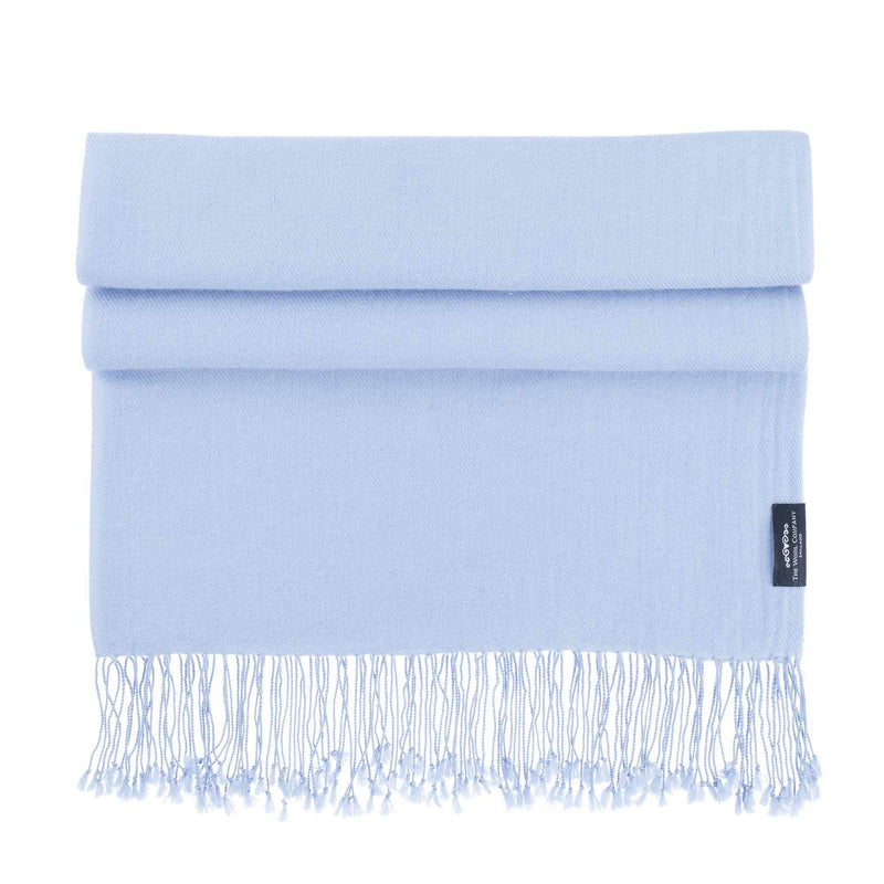 Luxury Pashmina Shawl Winter Sky CLOTHING The Wool Company