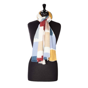 Buy Luxury Wool And Silk Printed Shawl Blue From The Wool Company Online