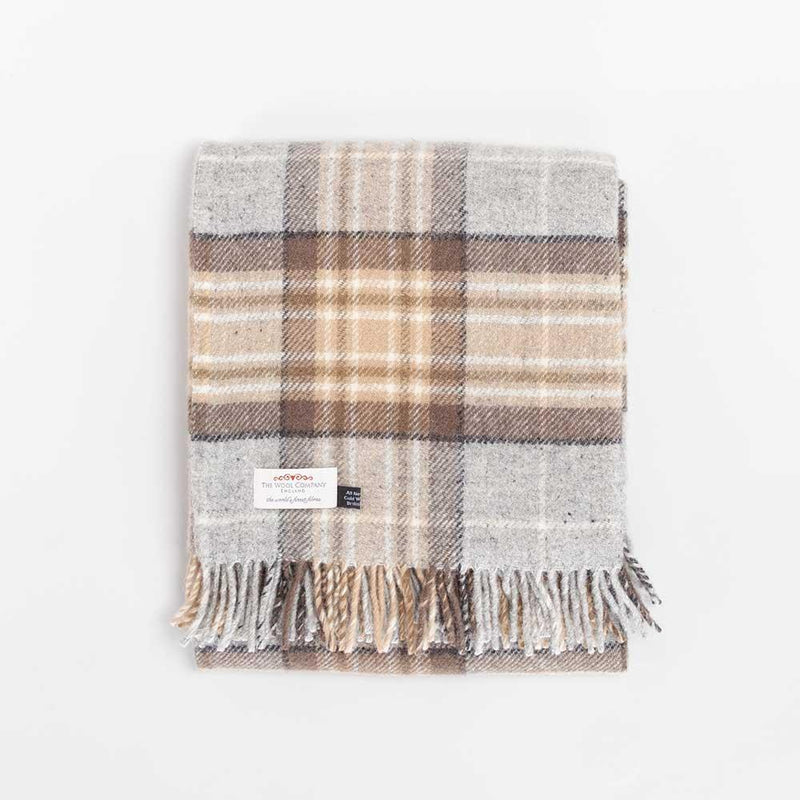 McKellar Tartan Check Pure New Wool Throw -  - LIVING  from The Wool Company