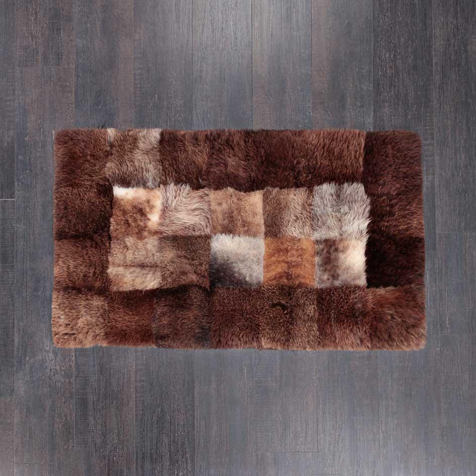 Medium Rectangle Sheepskin Rug Chocolate -  -   from The Wool Company