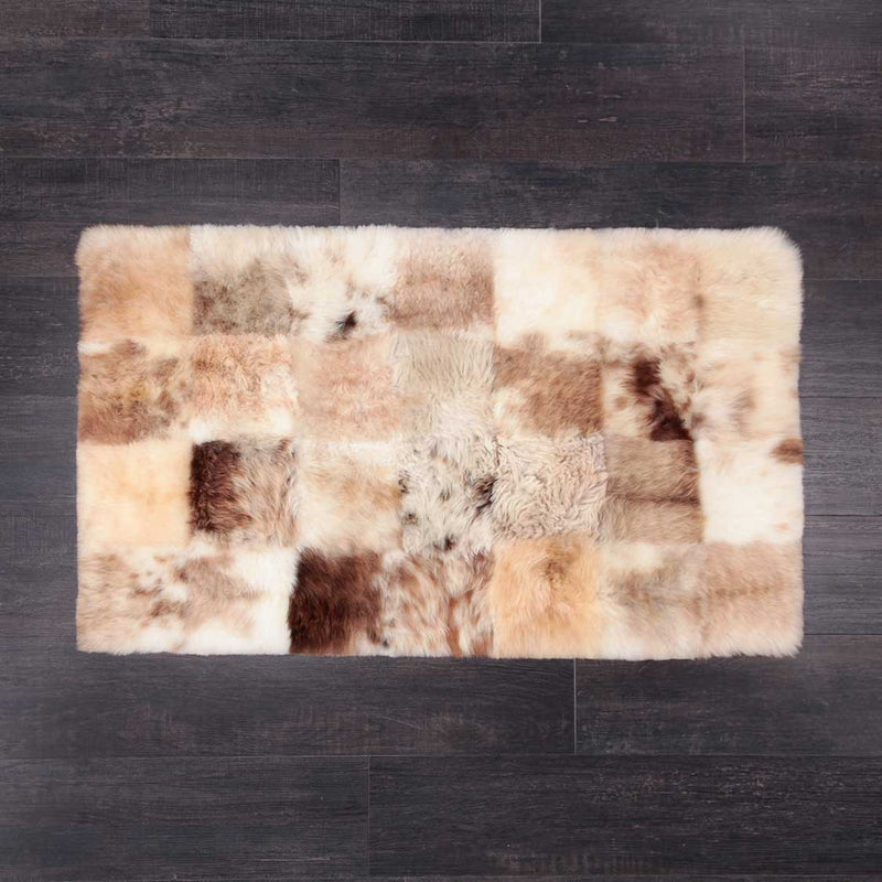 Medium Rectangle Sheepskin Rug Frothy Coffee -  - SHEEPSKIN  from The Wool Company