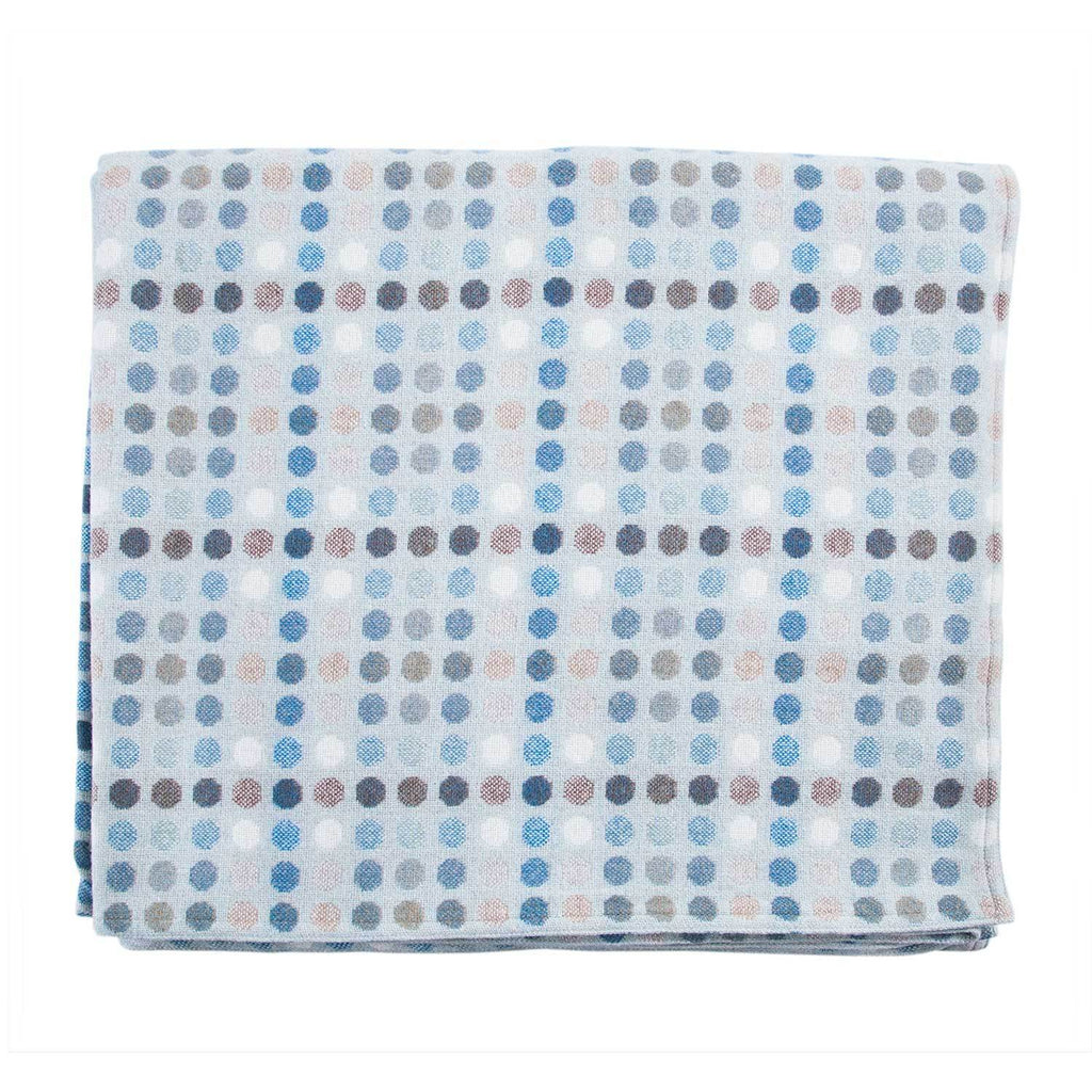 Melin Tregwynt Polka Dot Mondo Range Aqua Blanket LIVING The Wool Company