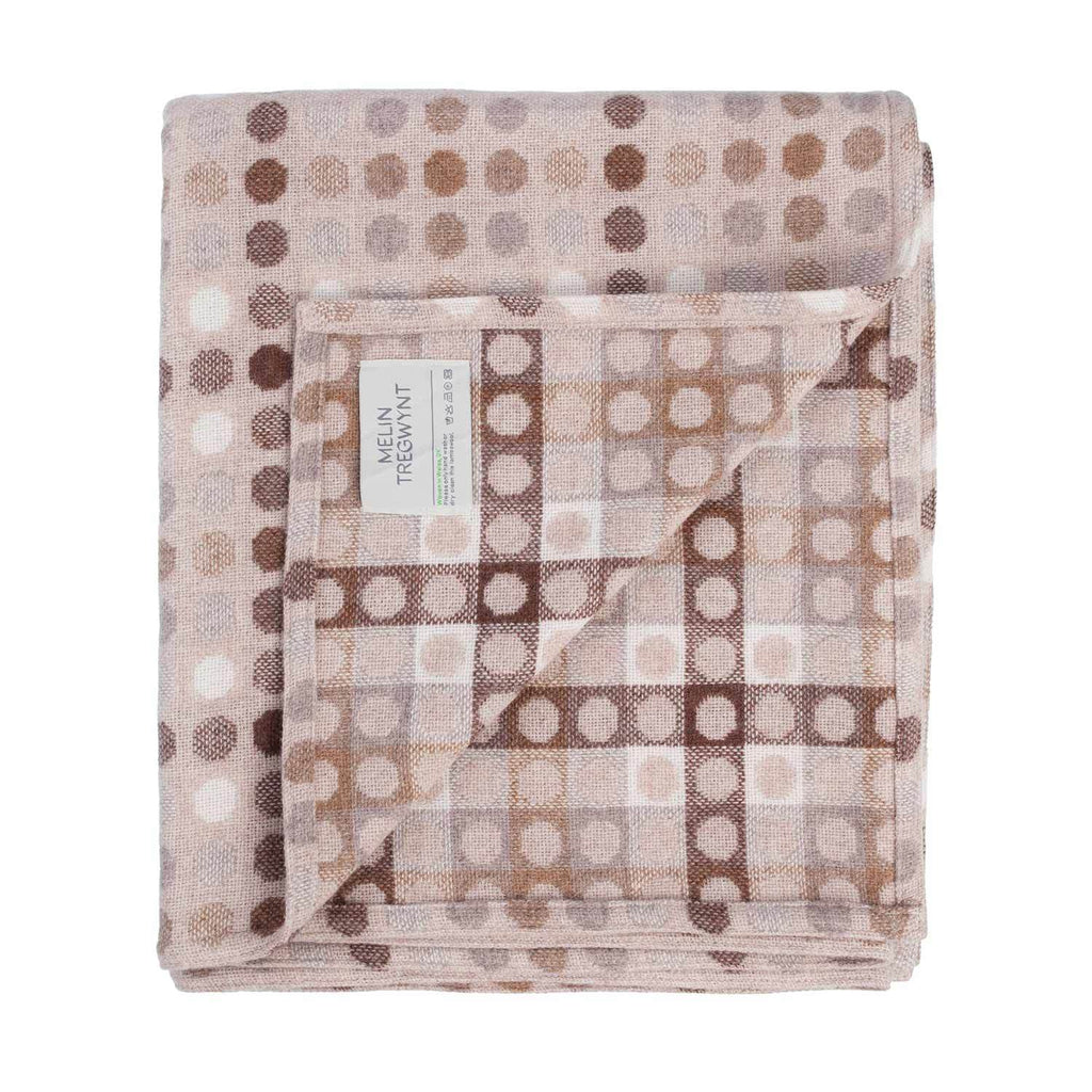 Melin Tregwynt Polka Dot Mondo Range Natural Throw -  - LIVING  from The Wool Company