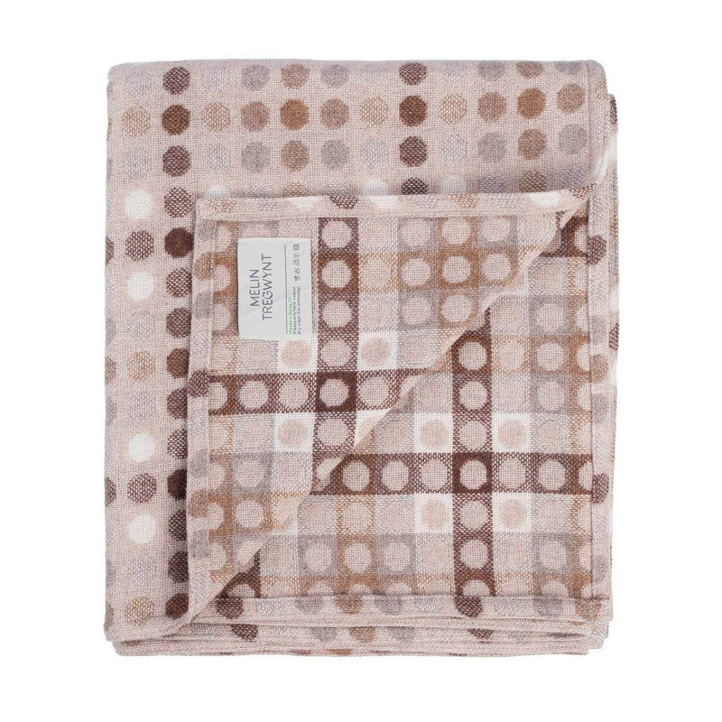 Melin Tregwynt Polka Dot Mondo Range Natural Throw LIVING The Wool Company