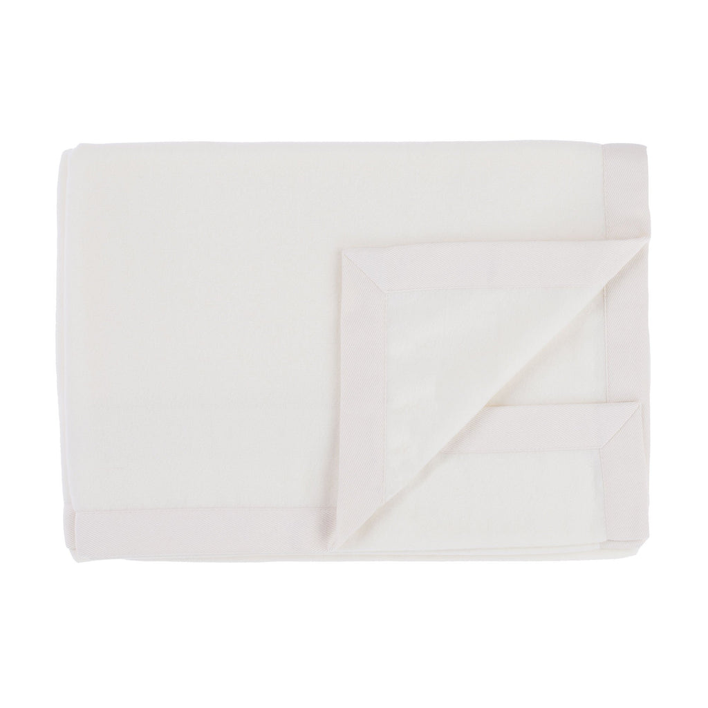 Milan Merino Blanket - Off-White / 160 x 220 cm Single Size - LUXURY BEDDING  from The Wool Company