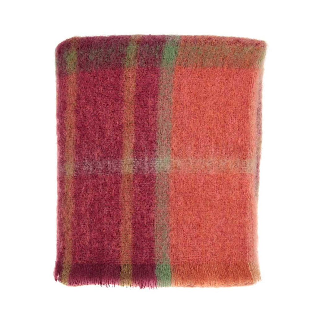 Mohair Throw Autumn Leaves -  - LIVING  from The Wool Company