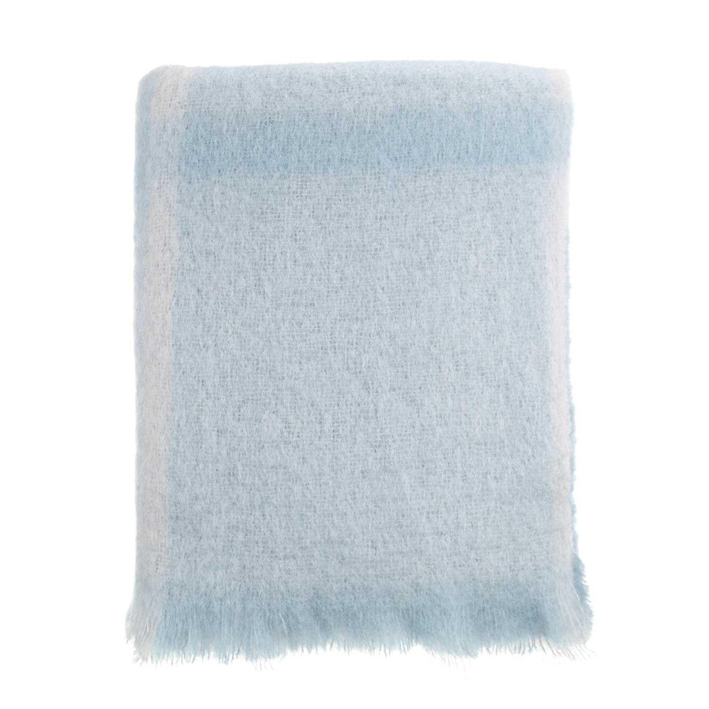 Mohair Throw Morning Mist -  - LIVING  from The Wool Company