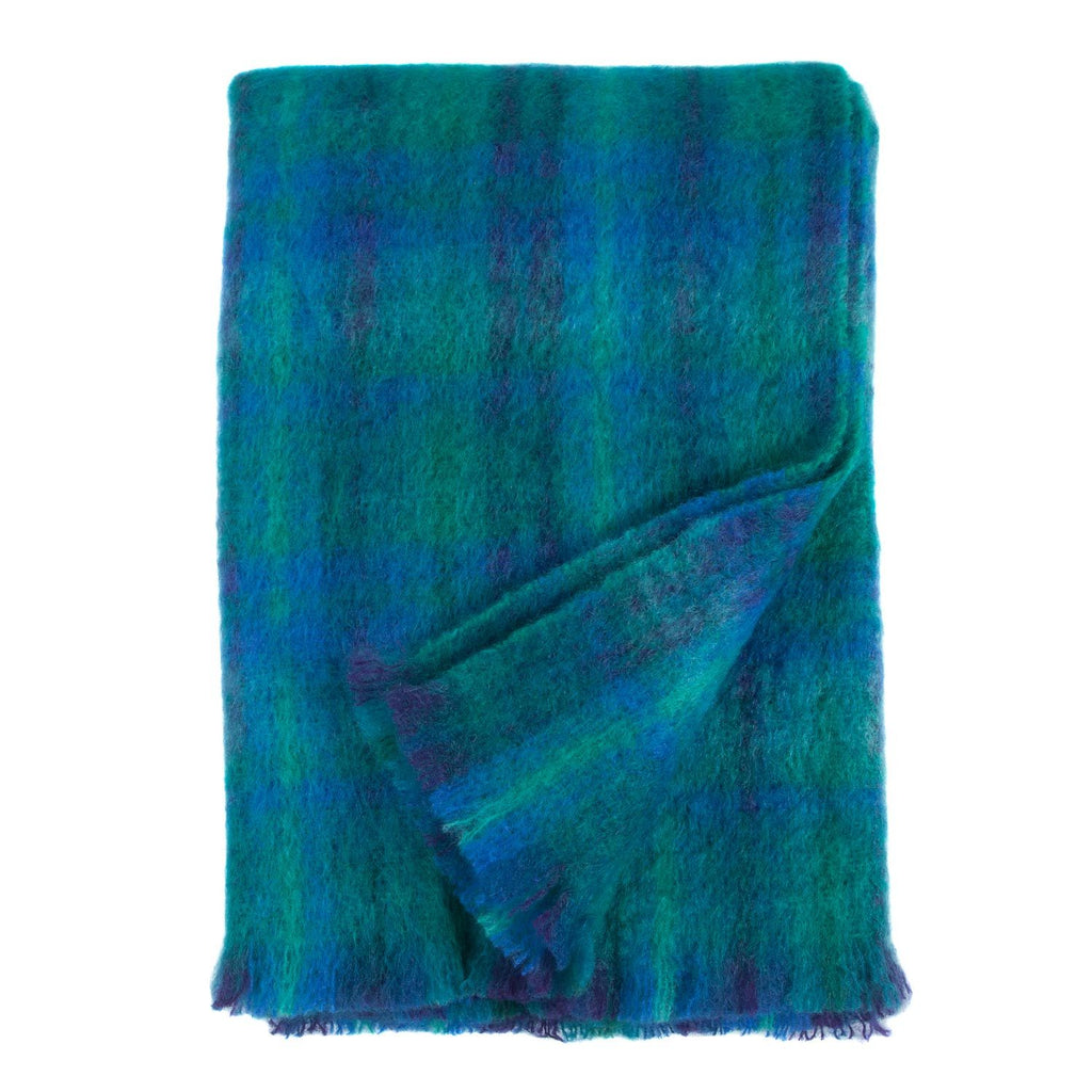 Mohair Throw Ocean LIVING The Wool Company