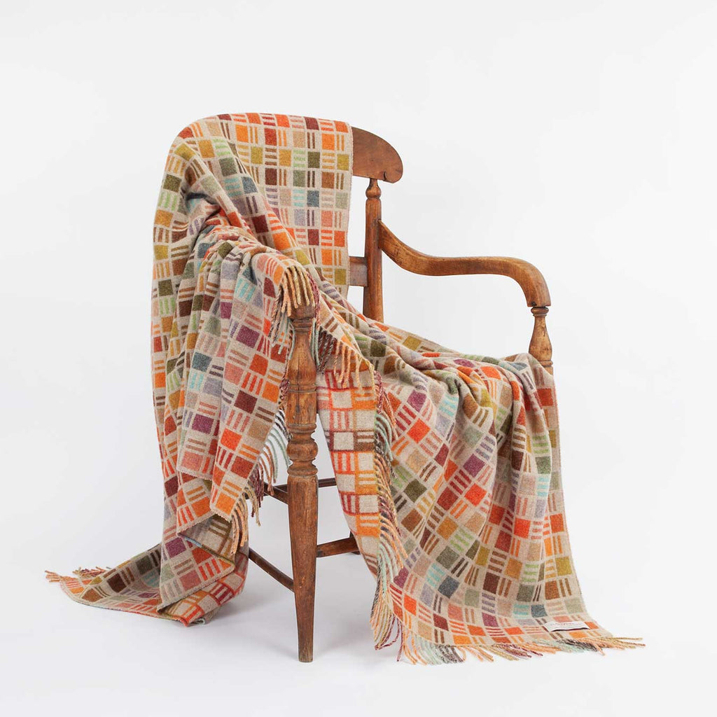 Multi-Coloured Merino Throw -  - LIVING  from The Wool Company