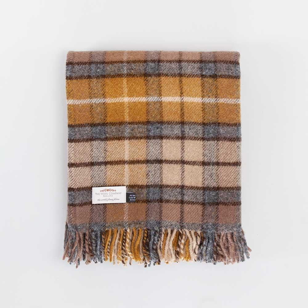 Buy Natural Buchanan Tartan Check Pure New Wool Throw From The Wool Company Online
