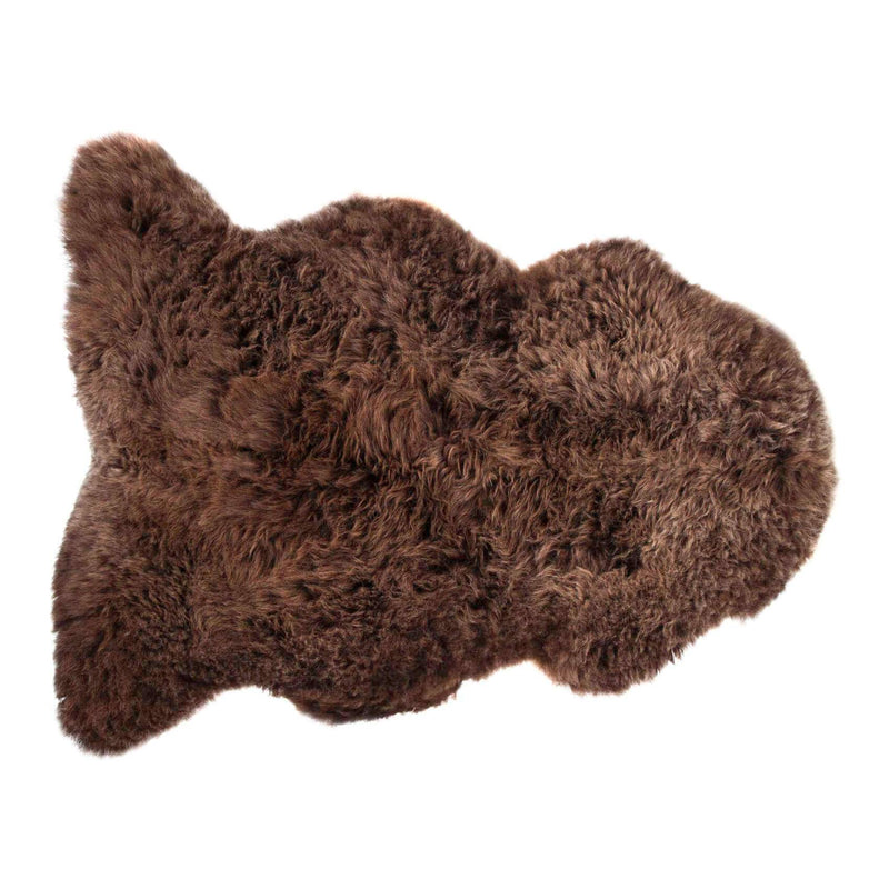 Natural Chocolate Sheepskin - Medium: 90 cm x 60cm approx. - SHEEPSKIN  from The Wool Company