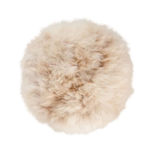 Buy Natural Sheepskin Dumpling Footstool Frothy Coffee From The Wool Company Online
