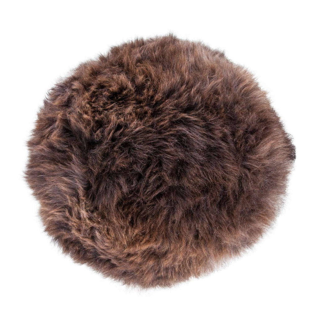 Buy Natural Sheepskin Dumpling Footstool Natural Chocolate From The Wool Company Online