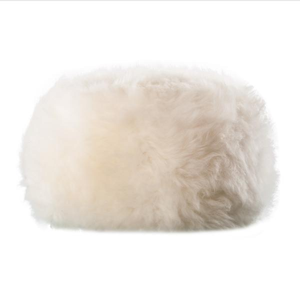Buy Natural Sheepskin Dumpling Footstool Natural White From The Wool Company Online