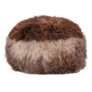 Buy Natural Sheepskin Dumpling Footstool Silver and Brown From The Wool Company Online