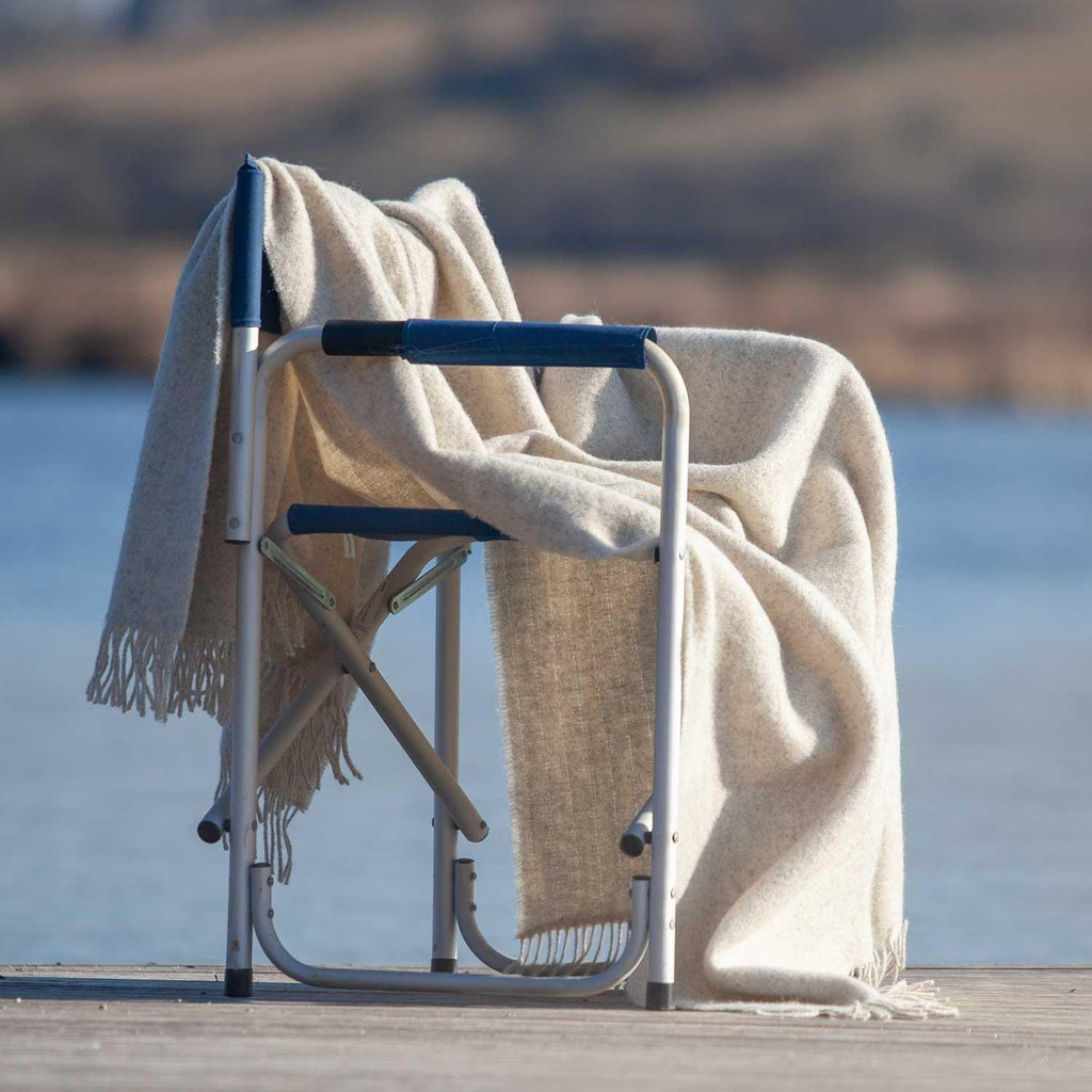 Natural Undyed Wool Throw Ecru -  - LIVING  from The Wool Company
