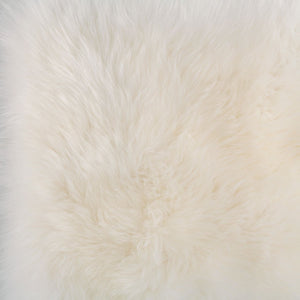 Natural White Sheepskin Seat Pads Square 40 cm -  - SHEEPSKIN  from The Wool Company