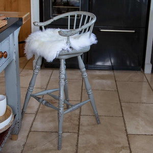Buy Natural White Sheepskin Seat Pads Square 40 cm From The Wool Company Online