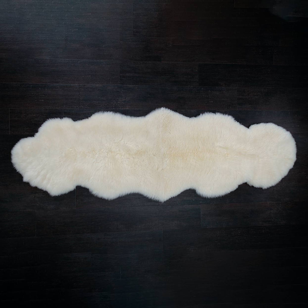 Natural White Swedish Double Lambskin -  - SHEEPSKIN  from The Wool Company