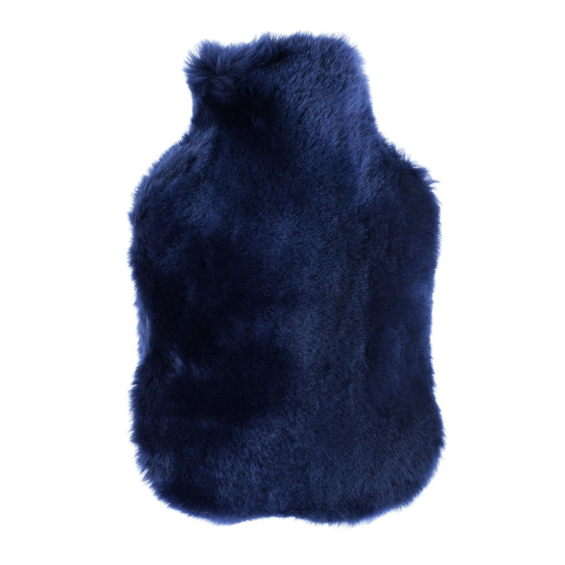 Buy Navy Sheepskin Hot Water Bottle From The Wool Company Online