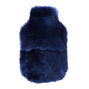 Navy Sheepskin Hot Water Bottle -  - SHEEPSKIN  from The Wool Company