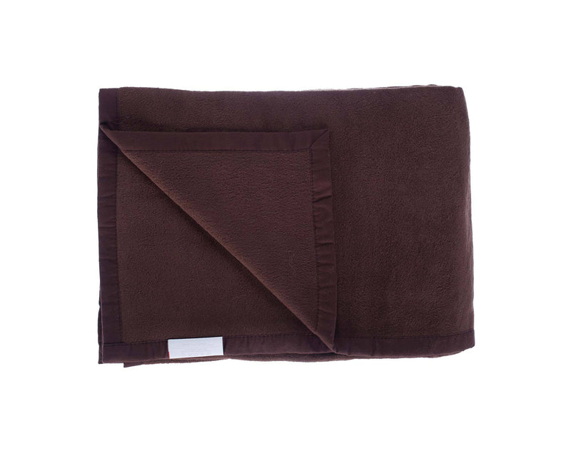 Organic Cotton Fleece Throw Dark Brown -  - LIVING  from The Wool Company