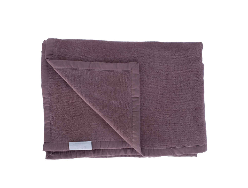 Organic Cotton Fleece Throw Mocha LIVING The Wool Company