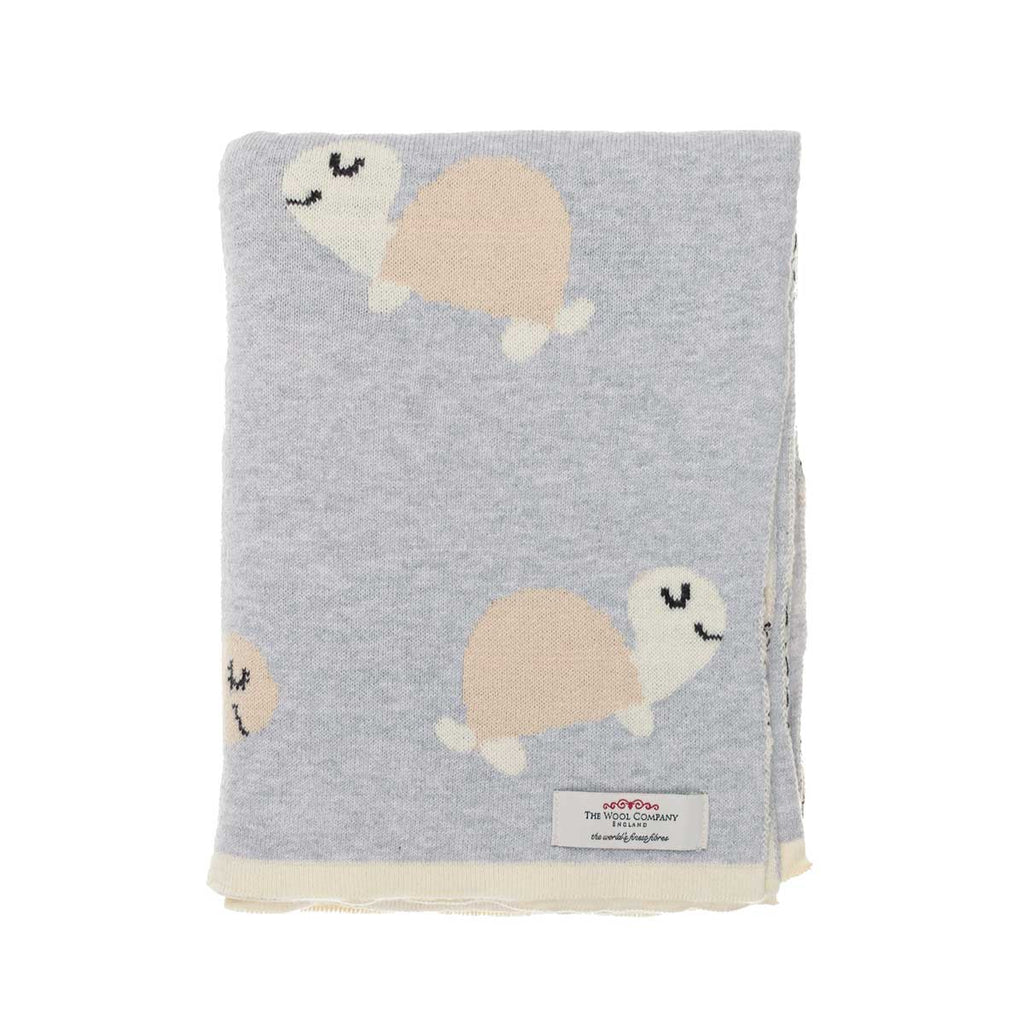 Ozzy Tortoise Baby Blanket Dove Grey -  - BABY  from The Wool Company