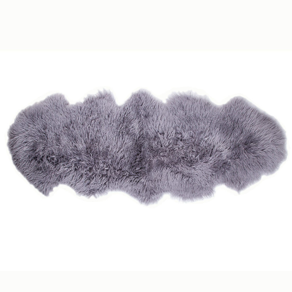 Buy Pewter Yeti Double Sheepskin Throw From The Wool Company Online