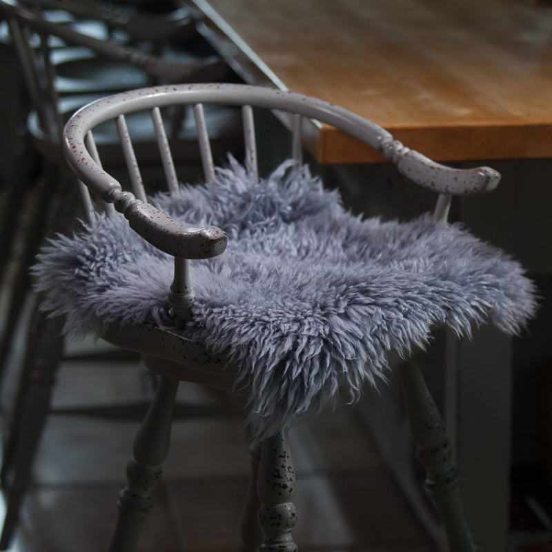 Buy Pewter Yeti Sheepskin Seat Pads Square 40 cm From The Wool Company Online
