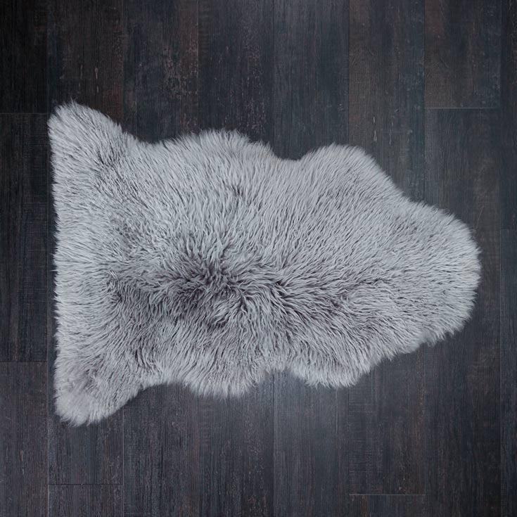 Buy Pewter Yeti Sheepskin Throw From The Wool Company Online