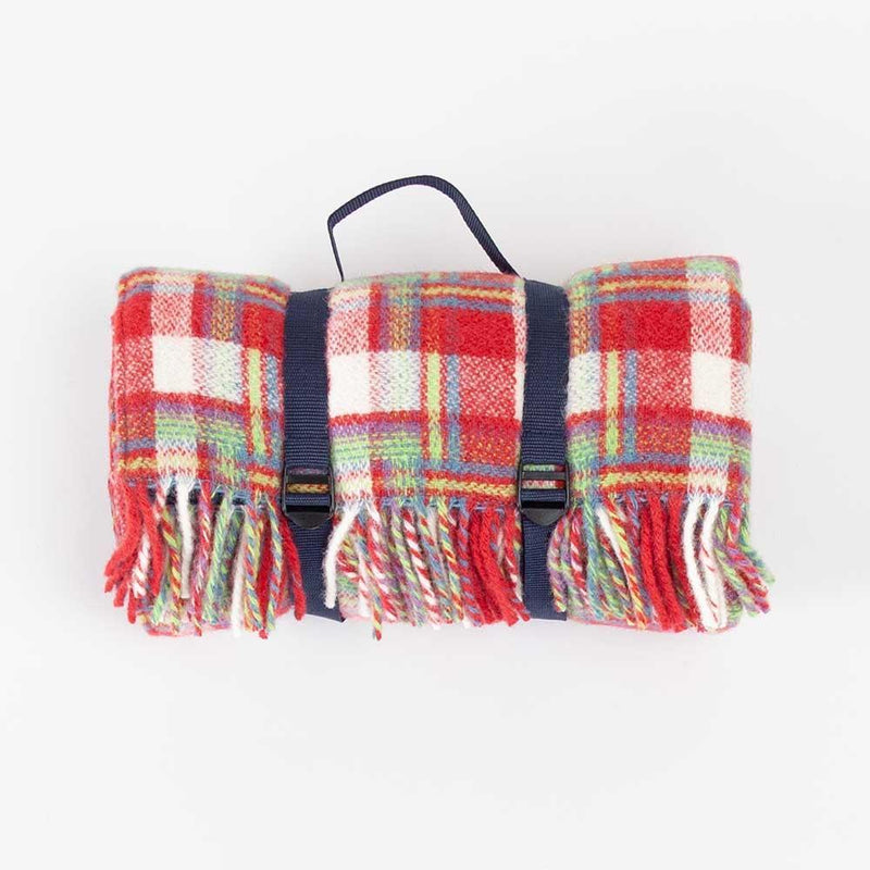 Pure New Wool Amelia Rose Check Picnic Rug -  - LIVING  from The Wool Company