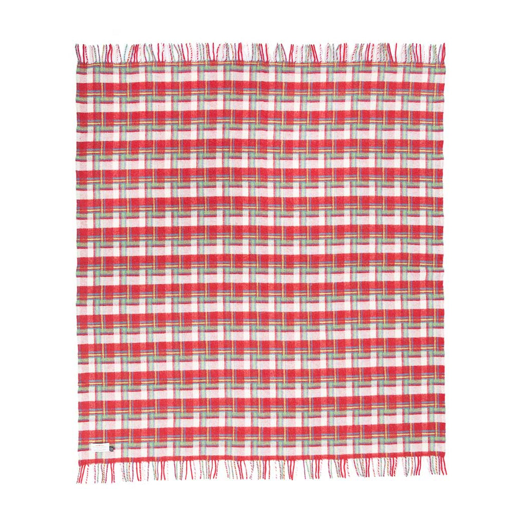 Pure New Wool Amelia Rose Check Throw -  - LIVING  from The Wool Company