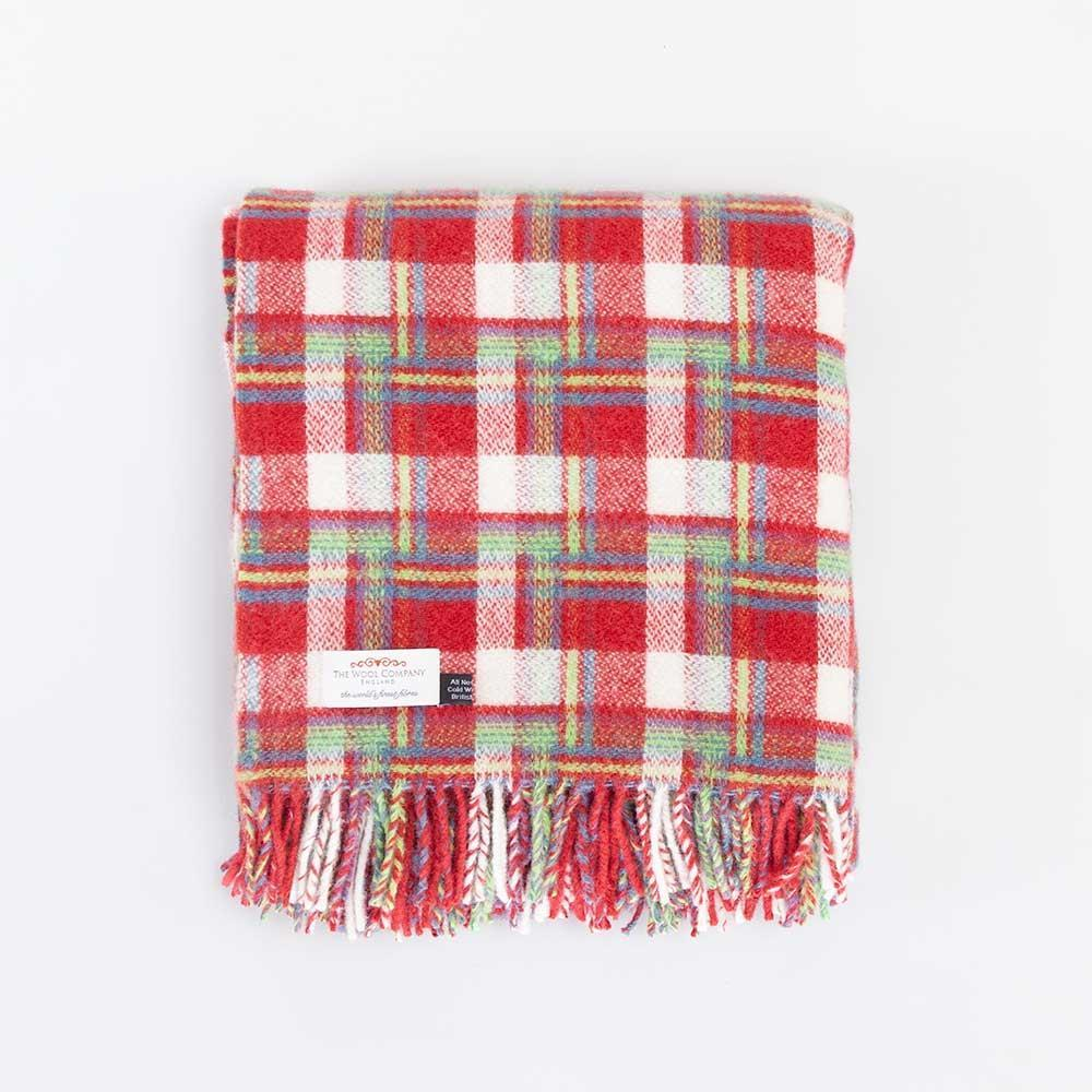 Buy Pure New Wool Amelia Rose Check Throw From The Wool Company Online