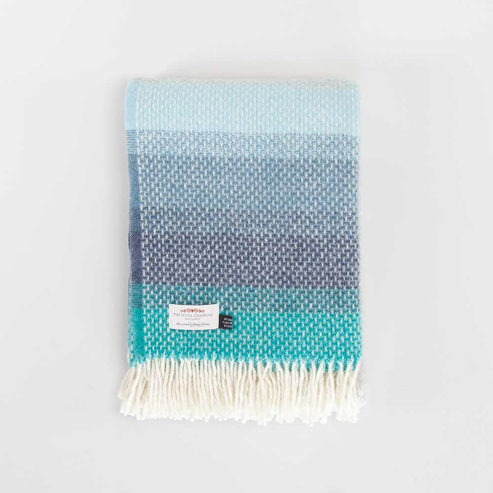 Pure New Wool Blue Ombre Throw -  - LIVING  from The Wool Company